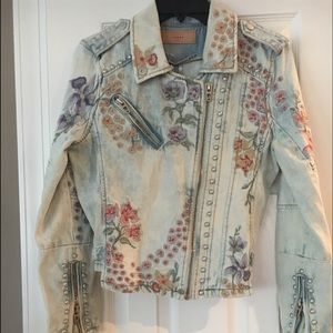 Blank NYC baby blue embellished Jean jacket
